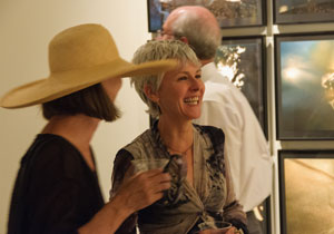 Nancy Sutor at opening of Compose Decompose at Verve Gallery  Santa Fe, 2010